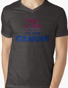 Too cute to be straight - bisexual Mens V-Neck T-Shirt