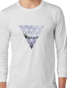 Ireland's lake in triangles Long Sleeve T-Shirt