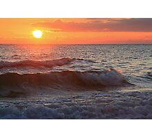 Sun and Waves Photographic Print