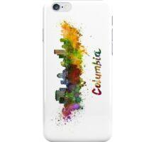 Columbia skyline in watercolor iPhone Case/Skin