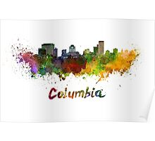 Columbia skyline in watercolor Poster