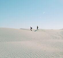 Walking alone in the Sahara desert by Margotte