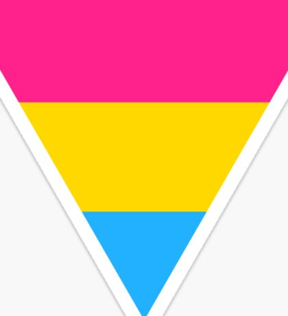 Pansexual triangle flag Sticker