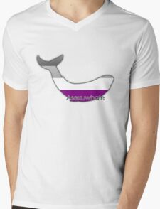 Asexuwhale - Asexual whale Mens V-Neck T-Shirt