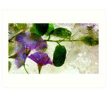 purple ice - 1 of 2 Art Print