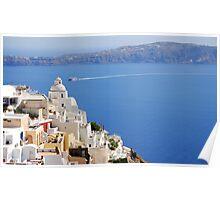 Fira,Santorini Poster