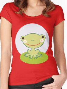 Little smiling frog Women's Fitted Scoop T-Shirt