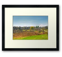 Ice Age Trails Framed Print
