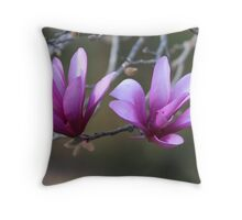 Flowering Japanese Magnolia Tree Throw Pillow