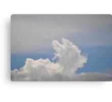 Resting on a Grey Cloud Canvas Print