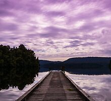 Jetty in Purple by Michelle McConnell