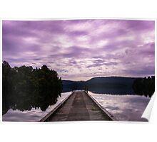 Jetty in Purple Poster