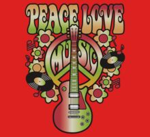 Peace-Love-Music One Piece - Short Sleeve