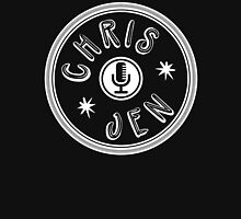 Chris and Jen Circle Stamp (White) Unisex T-Shirt
