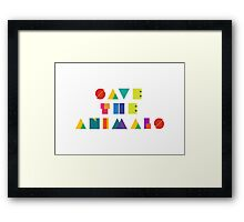 Save The Animals Framed Print