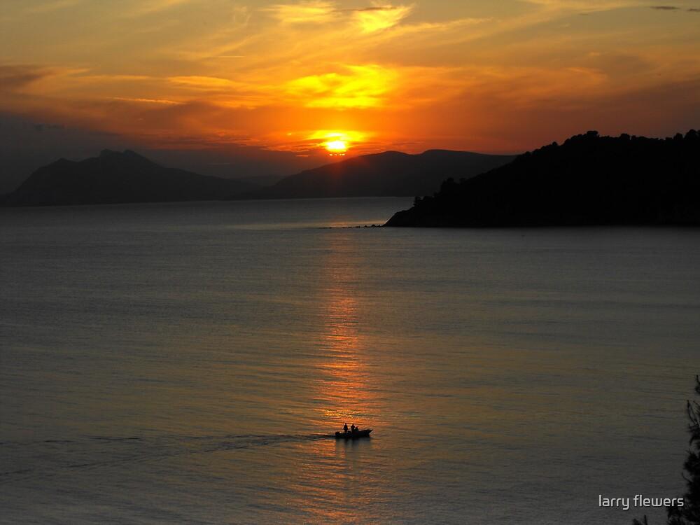 Skiathos Sunset by larry flewers