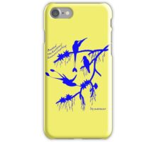 Blue booted rackettail hummingbird iPhone Case/Skin