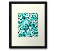 Marina - abstract free brushstroke ink spots painting watercolor art dorm hipster college beach Framed Print
