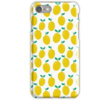 Lemons - Tropical citrus summer fresh modern pattern bright garden vegetables vegan iPhone Case/Skin
