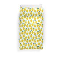 Lemons - Tropical citrus summer fresh modern pattern bright garden vegetables vegan Duvet Cover