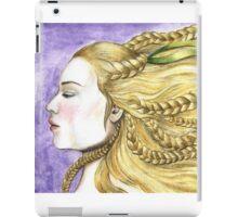 Girl with Braids iPad Case/Skin