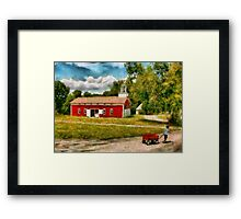 Fireman - I want to be a firefighter Framed Print