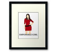 Impossible Girl Framed Print