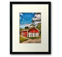 Fireman - The Fire house Framed Print