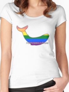 Homosexuwhale - homosexual whale Women's Fitted Scoop T-Shirt