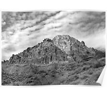 Jewels Along Titus Canyon Road- Black and White Poster