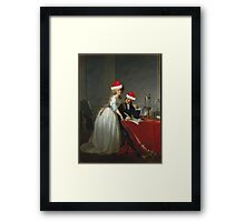 Antoine-Laurent Lavoisier (1743–1794) and His Wife (Marie-Anne-Pierrette Paulze, 1758–1836) Jacques Louis David  Framed Print