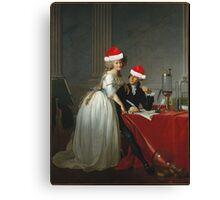 Antoine-Laurent Lavoisier (1743–1794) and His Wife (Marie-Anne-Pierrette Paulze, 1758–1836) Jacques Louis David  Canvas Print