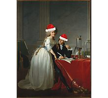 Antoine-Laurent Lavoisier (1743–1794) and His Wife (Marie-Anne-Pierrette Paulze, 1758–1836) Jacques Louis David  Photographic Print