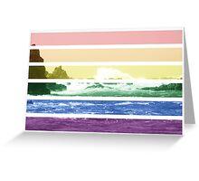 LGTB flag on waves crashing Greeting Card