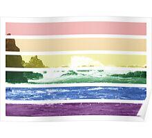 LGTB flag on waves crashing Poster