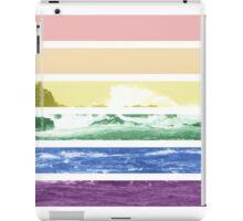 LGTB flag on waves crashing iPad Case/Skin