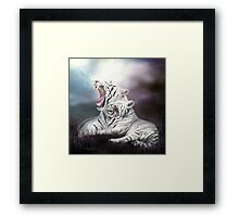 Wild Generations - White Tigers Framed Print