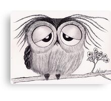 Its Been a Long Day - Mr. Owl Canvas Print