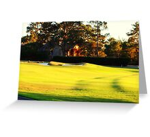 Sunset on the Fairway Greeting Card