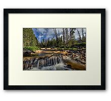 The Provo River on the Mirror Lake Highway Framed Print