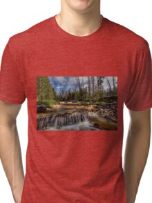 The Provo River on the Mirror Lake Highway Tri-blend T-Shirt