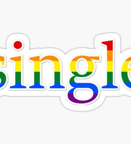 Single - LGBT Sticker