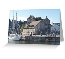Tiny French Harbor Greeting Card