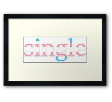 Single - transexual Framed Print