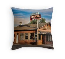 Swiss Mountain Motel Throw Pillow