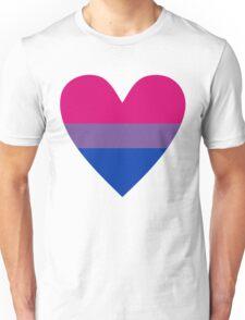 Bisexual heart Unisex T-Shirt