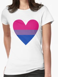 Bisexual heart Womens Fitted T-Shirt