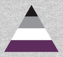 Asexual triangle flag One Piece - Short Sleeve