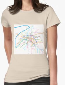 Paris Metro Womens Fitted T-Shirt