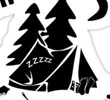 Just Another Wine Drinker With A Camping Problem Sticker